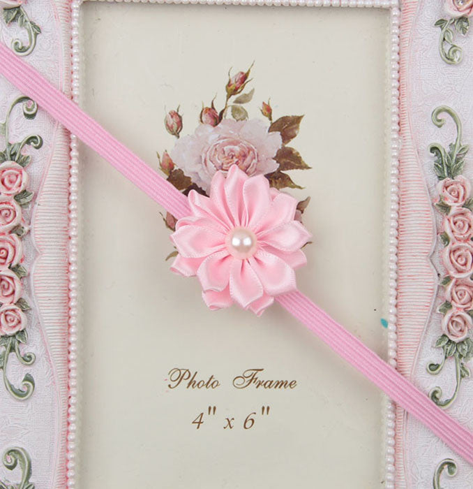 Simple flower headband - Baby Pink