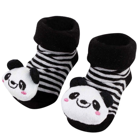 Black Panda Anti Skid 3D socks