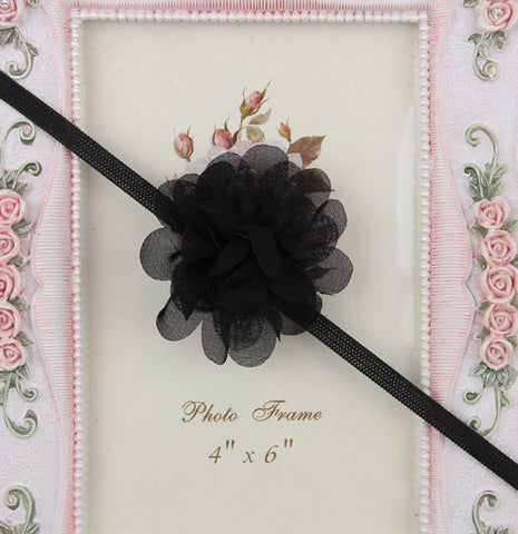 Small Flower headband - Black