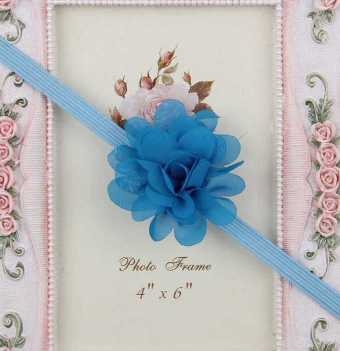 Small Flower headband - Blue