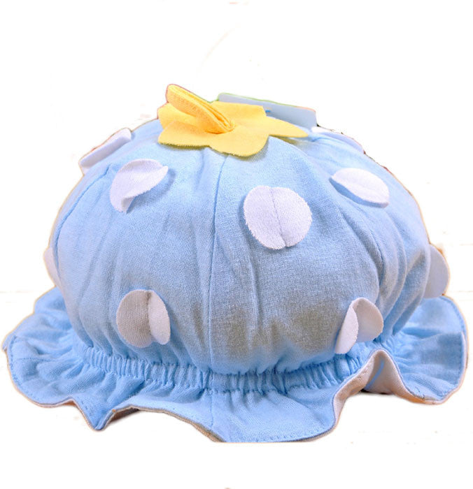 Sky Blue Strawberry hat for baby (3-18 months)