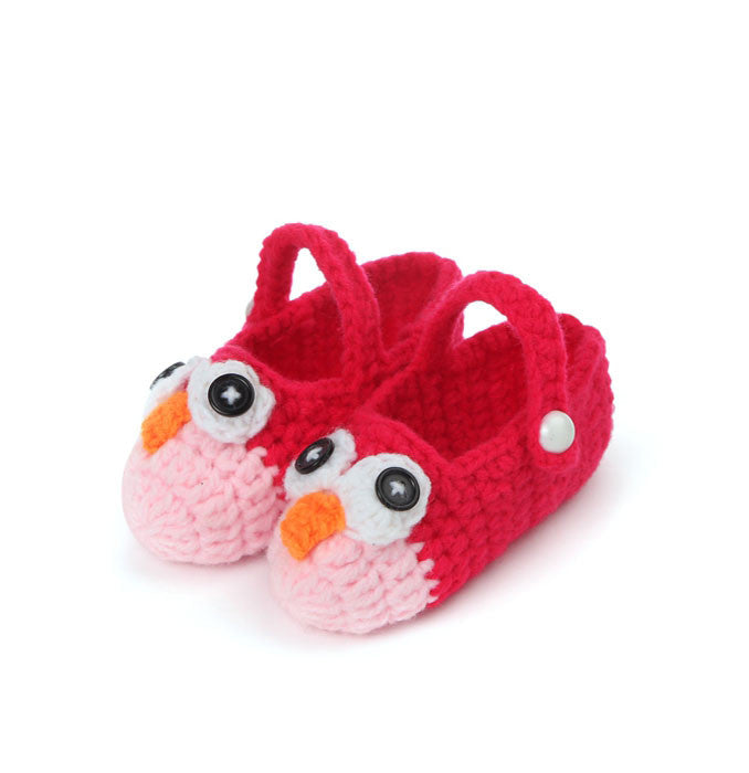 Night Owl crochet booties - 2