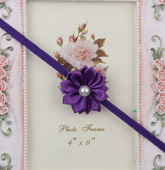 Simple flower headband - purple