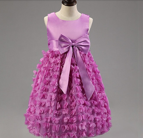 Falling Flowers Dress - Purple