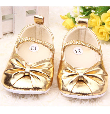 Golden Ballerina Baby Shoes