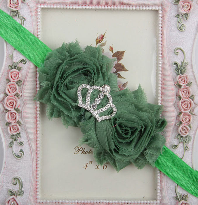 Princess Crown headband - Green