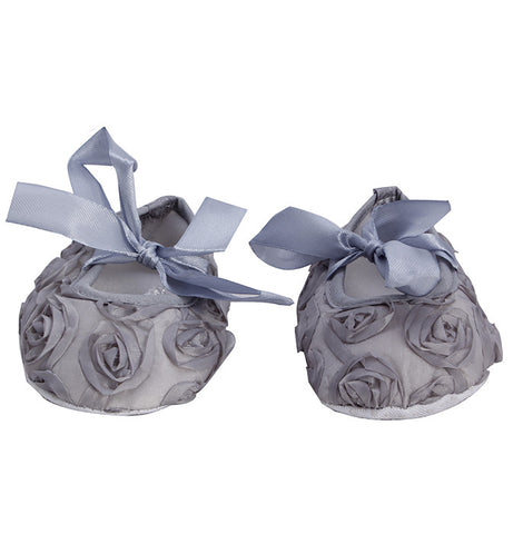 Grey Roses Crib Shoes