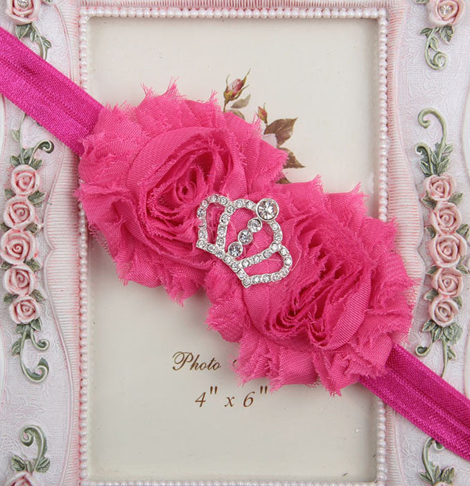 Princess Crown headband - hot pink