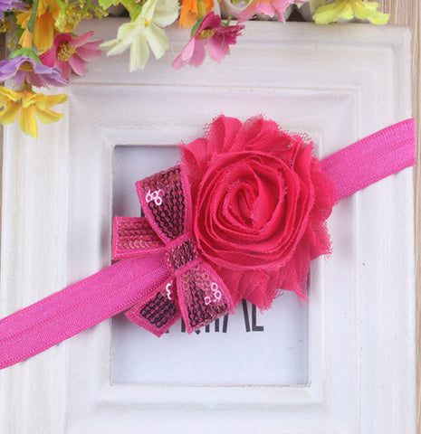Mini Sparkle headband - Hot Pink