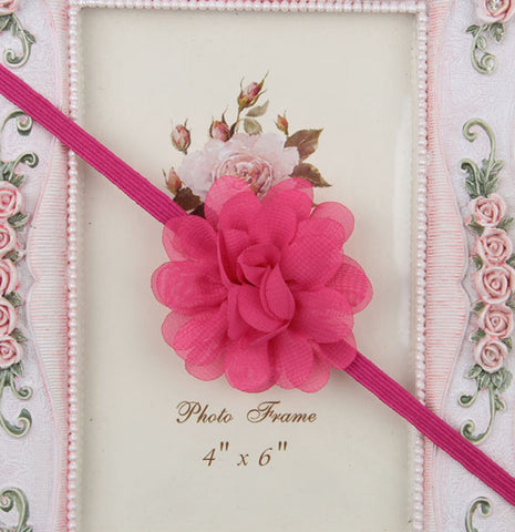 Small Flower headband - Hot Pink