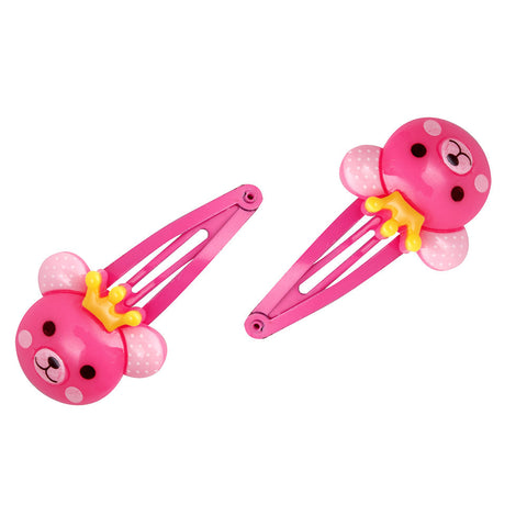 Teddy Snap Clip Hot Pink
