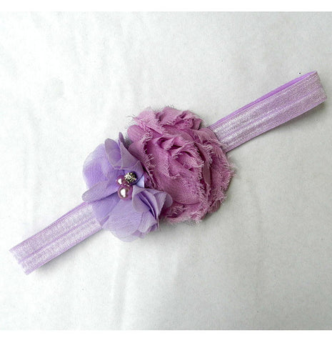 Crystal Flower headband - Lavender