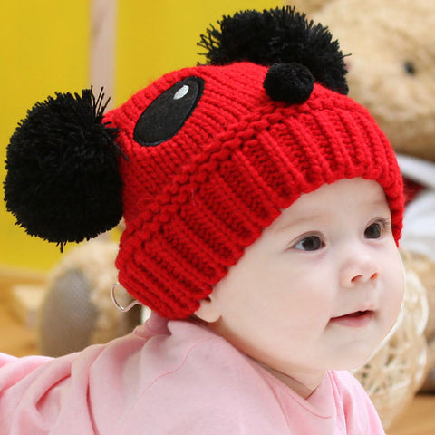Cute Panda cap - Red