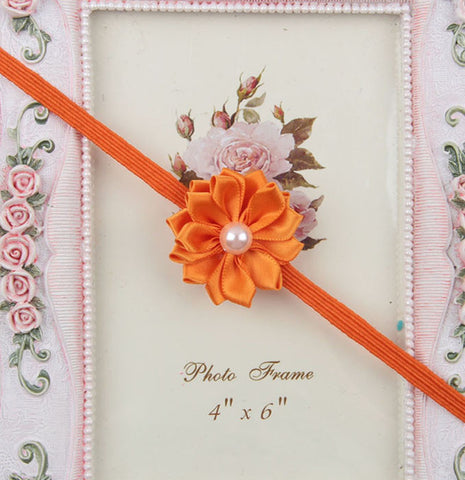 Simple flower headband - orange
