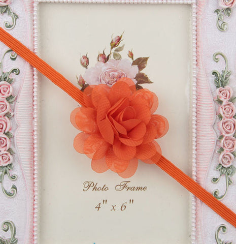 Small Flower headband - Orange