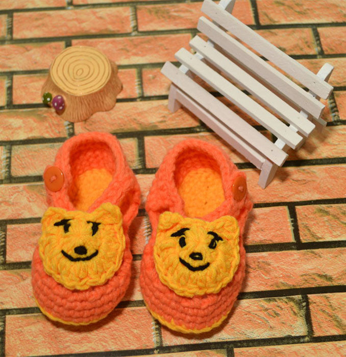 Crochet tiger booties