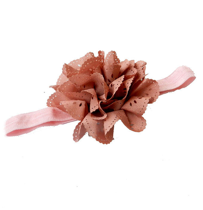 Cut Work Big Flower Headband - Petite Orchid