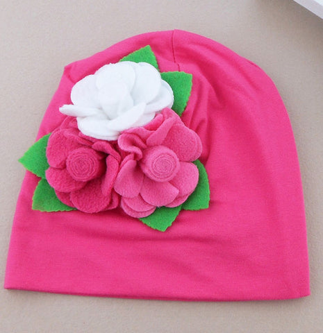 Pink Cotton Cap for girls