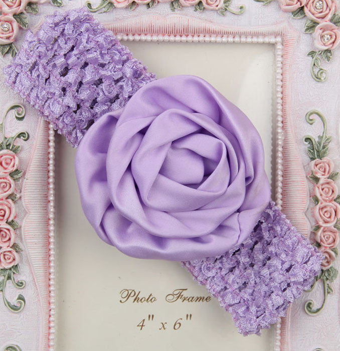 Rolled up Rose on crochet - Lavender