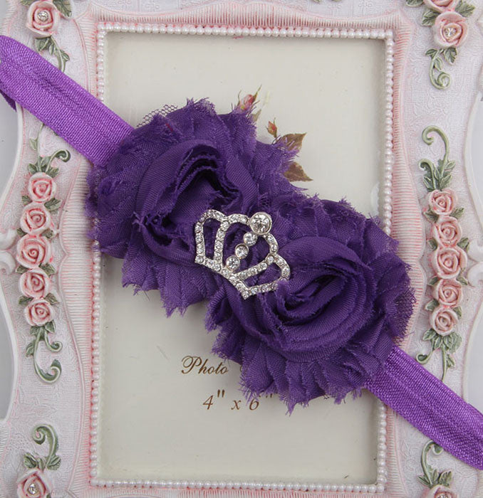 Princess Crown headband - Purple