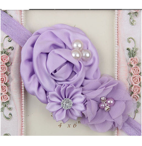Exquisite floral headbands - Sweet Purple