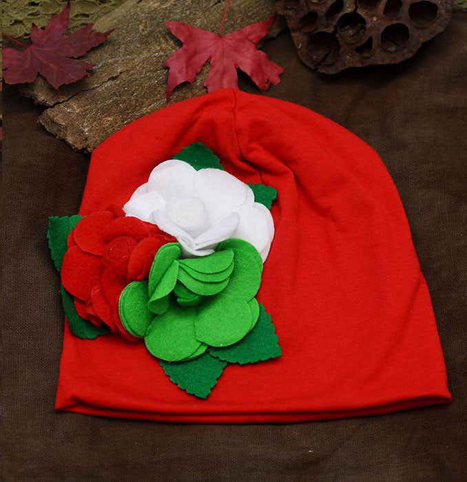 Red Cotton Cap for girls 112