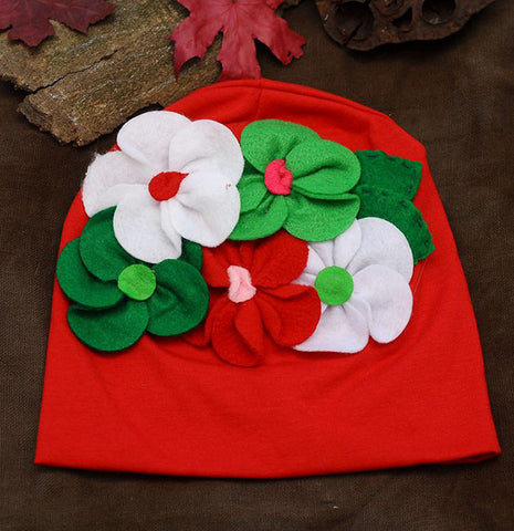 Red Cotton Cap for girls 111
