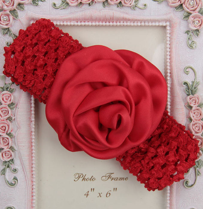 Rolled up Rose on crochet - Red