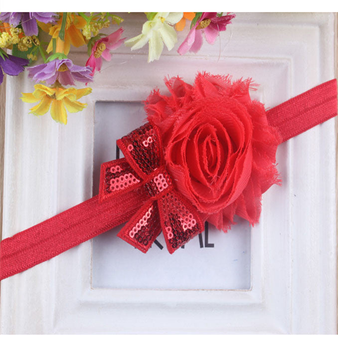 Mini Sparkle headband - Red