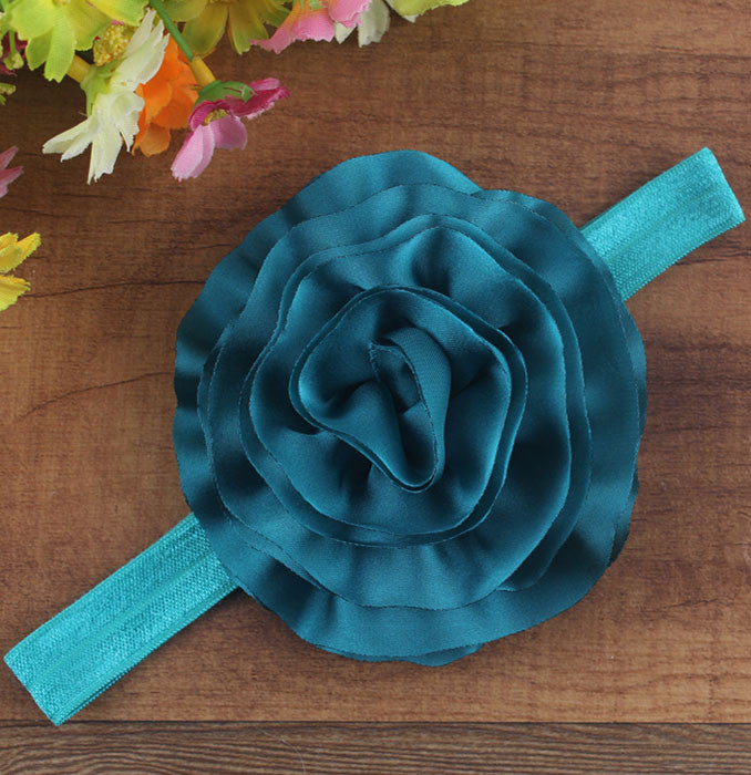 Pikaboo Big Shiny Rose headband - Teal
