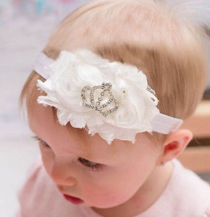 Princess Crown headband - white