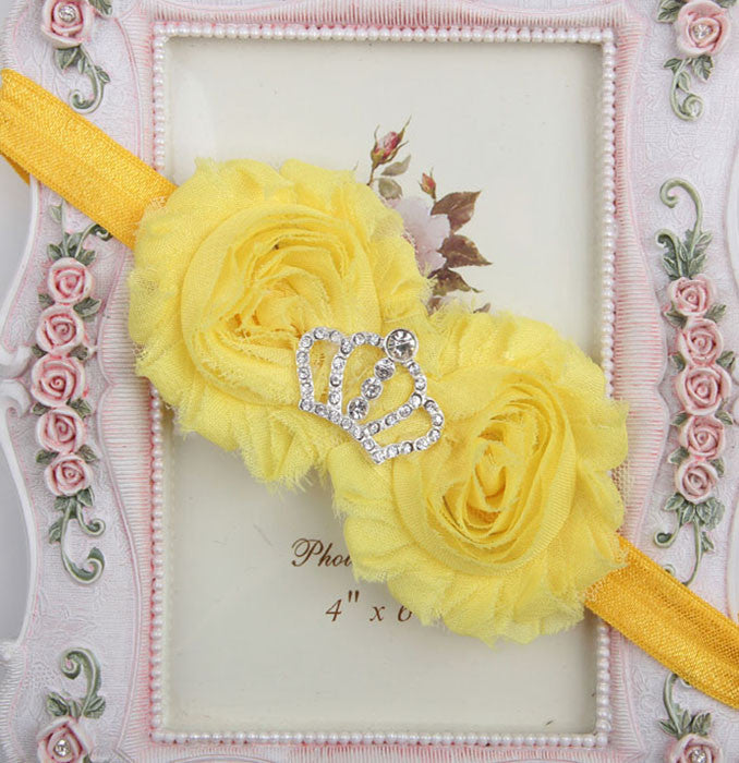 Princess Crown headband - Yellow