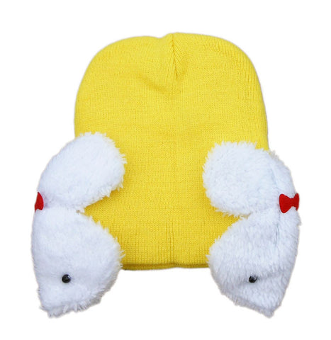 Yellow rabbit baby cap (6 - 24 months)