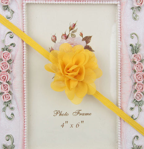 Small Flower headband - Yellow