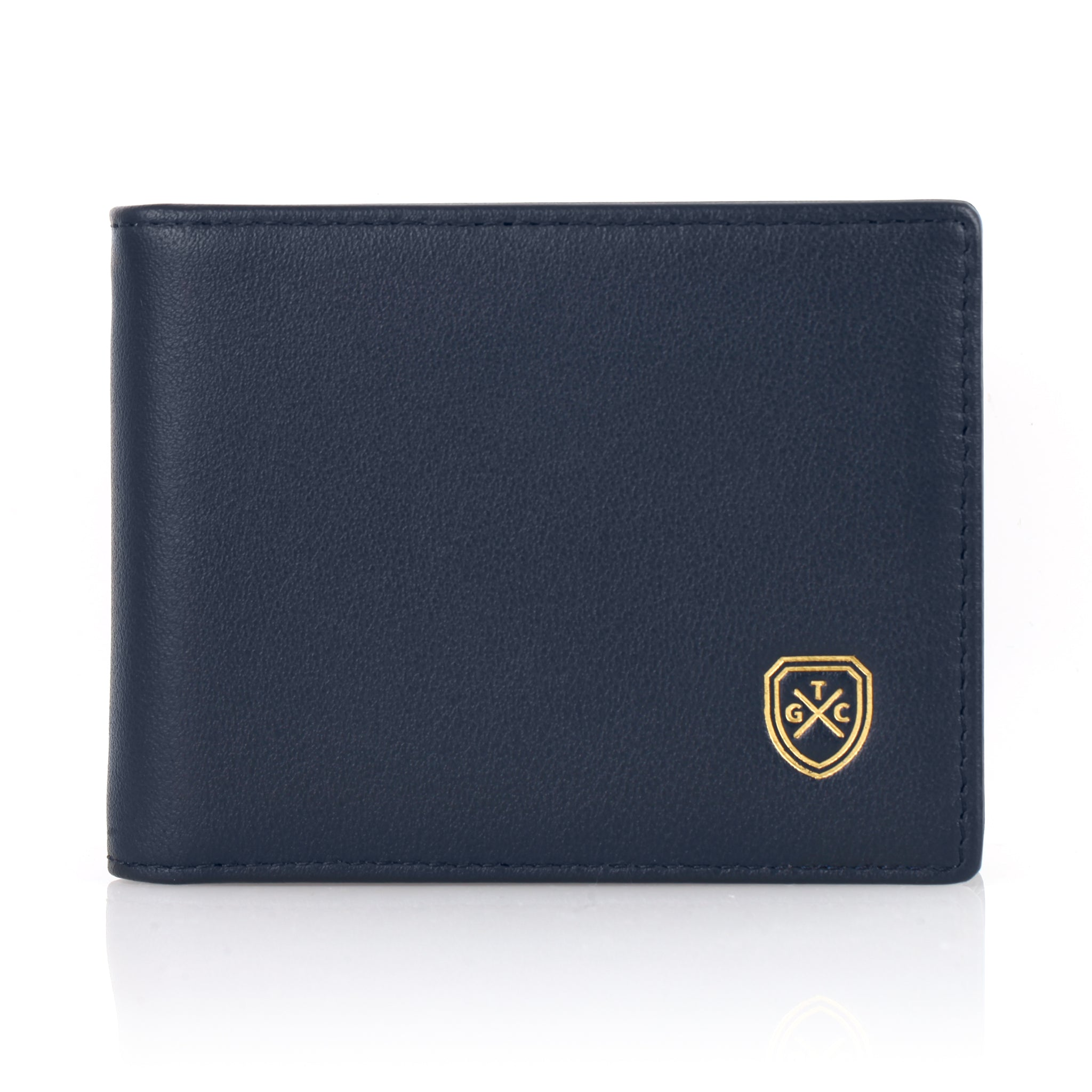 Full-Grain Leather Money Clip Wallet