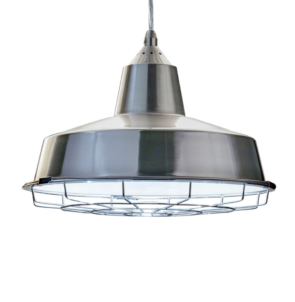 "13"" Barn House LED Pendant Silver Finish"