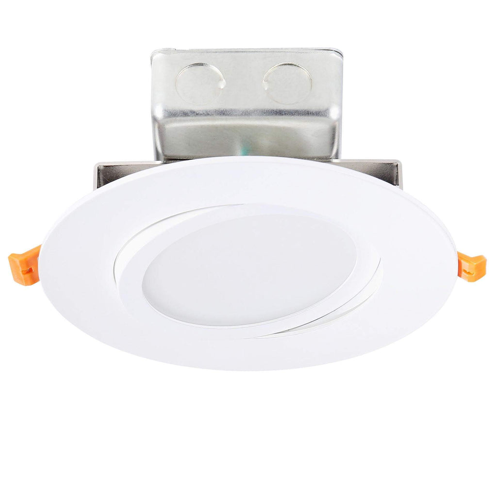 "7"" Utility Gimbal LED Recessed Direct Wire Downlight With J-Box"