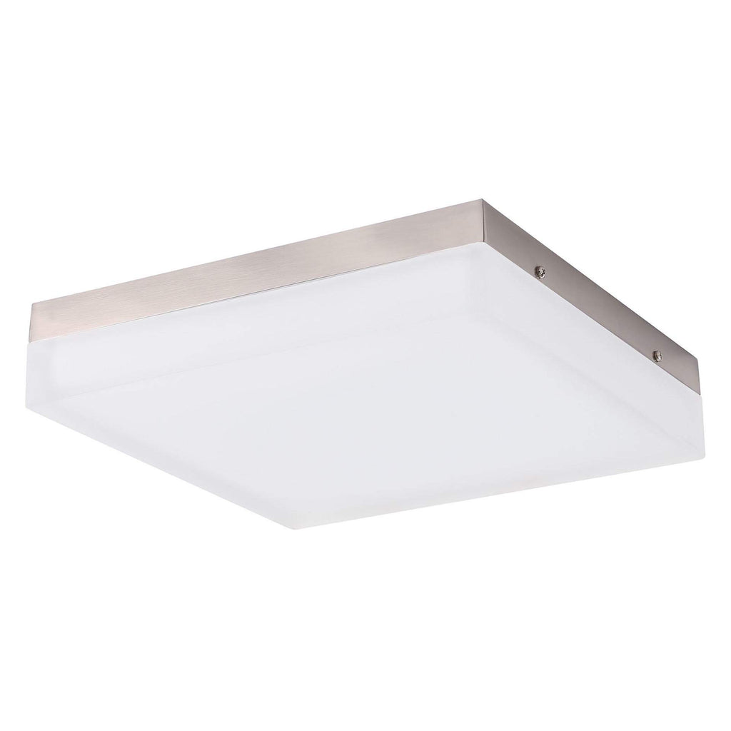 "11"" Modern LED Square Glass Flush Mount Ceiling Fixture"
