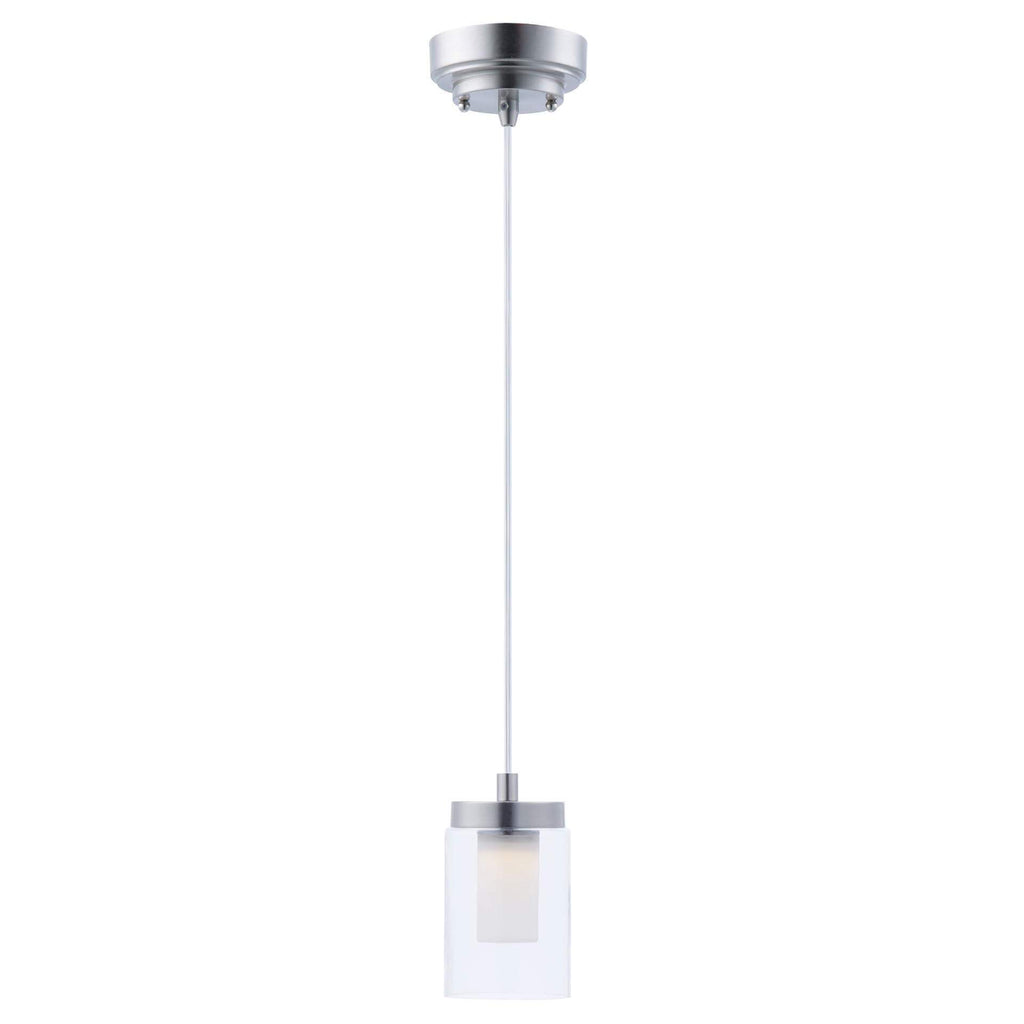 "7"" Candle LED Glass Pendant"