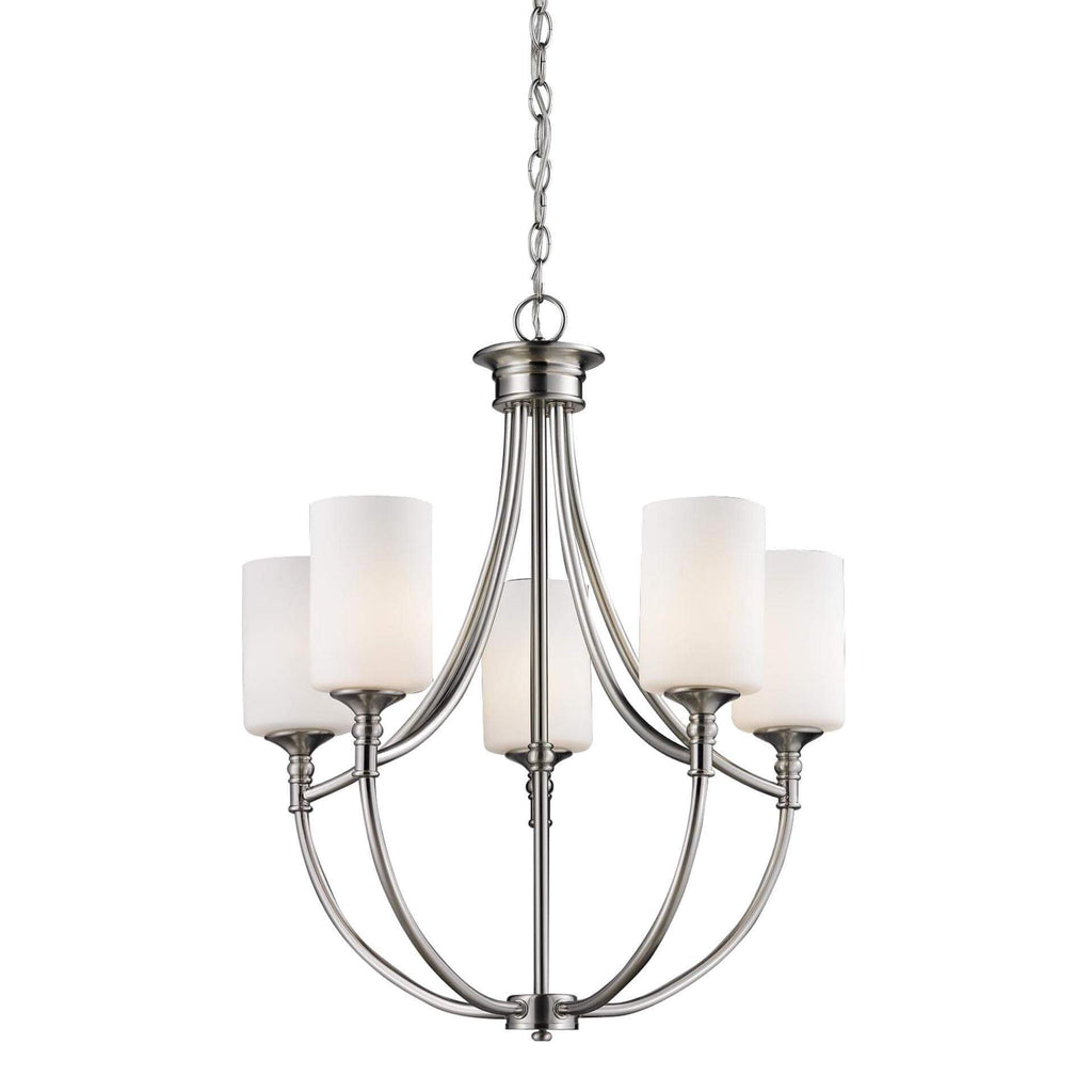 "25"" Transitional LED Glass Chandelier 5-Lamp"