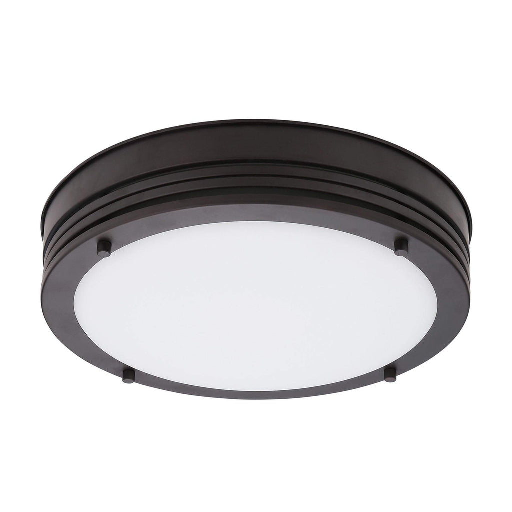 "13"" Transitional LED Glass Flush Mount Ceiling Fixture"