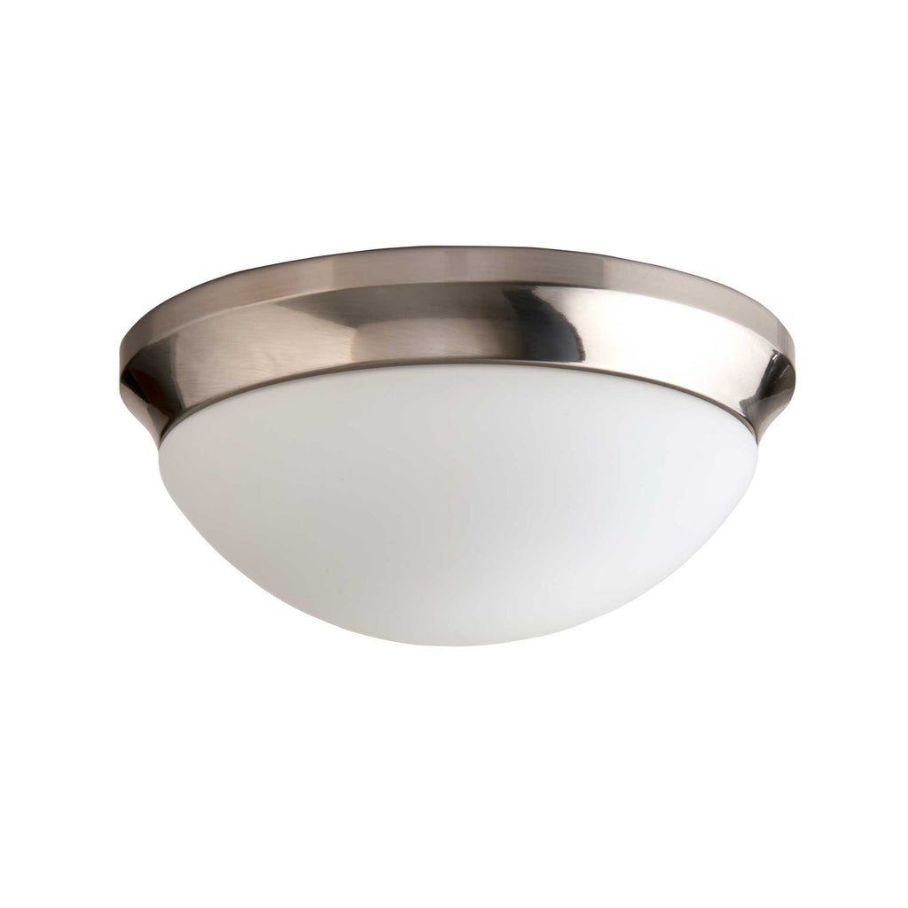 "12"" Utility LED Glass Flush Mount Ceiling Fixture"