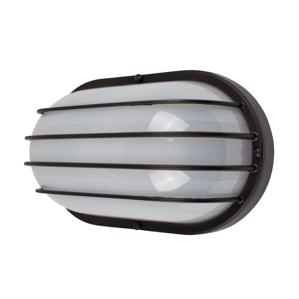 "11"" Utility LED Outdoor Oval Bulkhead Light"