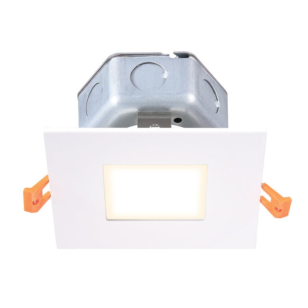 "5"" Modern LED Recessed Direct Wire Square Downlight With J-Box"