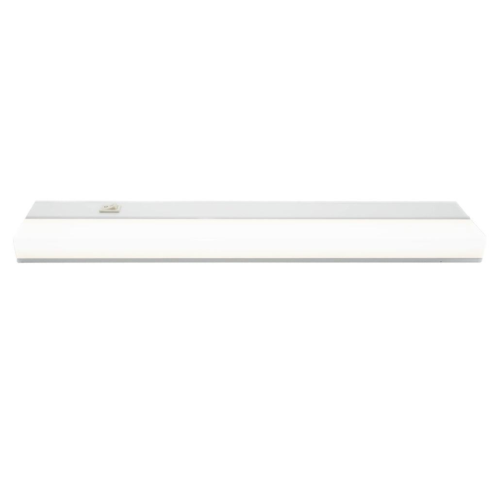 "18"" Utility LED Under Cabinet Integrated LED Fixtures White Finish"