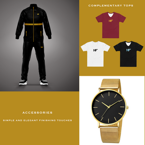 Men's Black and Gold Suit Collection