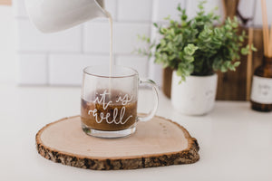 it is well mug glass mug clear hymn christian hope and happy designs andrea babinski