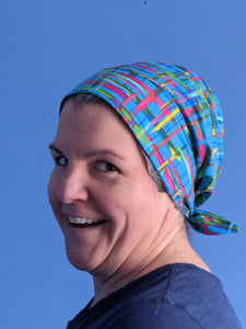 Slouch scrubs cap side view