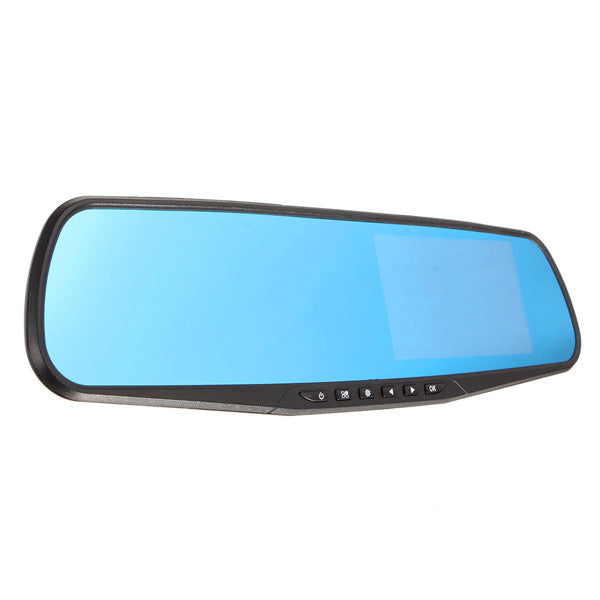 4.3 Inch HD 1080P Cam Video Recorder Rear View Back Reversing Car Mirror Camera DVR