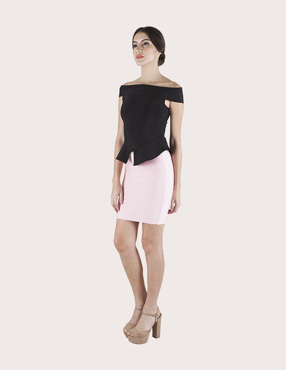 Load image into Gallery viewer, Emily Mini Striped Bandage Skirt